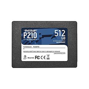 SSD|PATRIOT|P210|512GB|SATA 3.0|P210S512G25