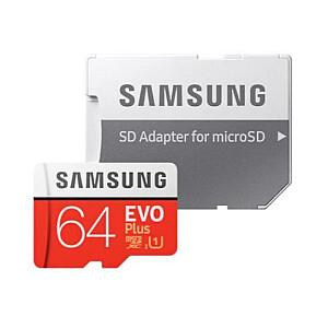 MEMORY MICRO SDXC EVO+ 64GB/EU SAMSUNG