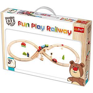 WOODEN TOYS Dzelzceļš