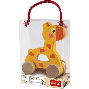 WOODEN TOYS Velkama rotaļlieta žirafe