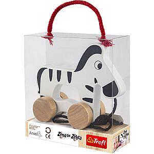 WOODEN TOYS Stumjama rotaļlieta Zebra