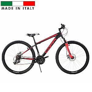 "Mountain Bike Coppi Man Brave Disk - melns ar sarkanu (Rata izmērs: 27,5"" Rāmja izmērs: 15"")"