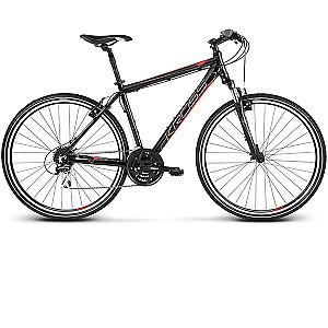"""Kalnu velosipēds Kross Evado 3.0 Melns ar sarkanu (L) (Rata izmērs: 28"""")"""