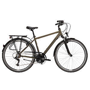 "Pilsētu velosipēds Kross Trans 2.0 Haki Mat. (L) (Rata izmērs: 28"")"