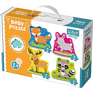 """Trefl Baby puzle""""Meža dzīvnieki"""""""