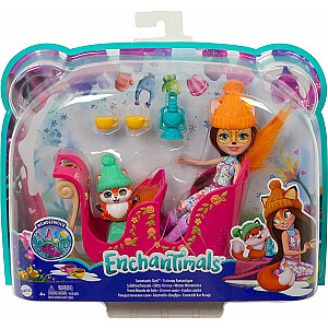 Ziemas kamanas Mattel Enchantimals (FJH11 / GJX31)