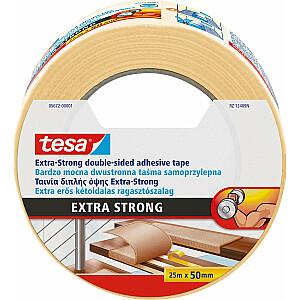 Paklāja lente Tesa, abpusēja, 25 mx 50 mm (05672-00001-11)