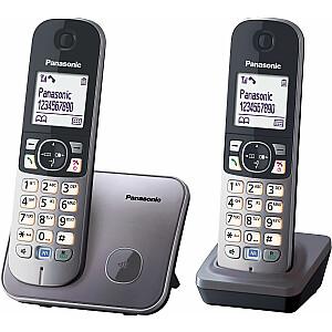 Bezvadu tālrunis Panasonic KX-TG6812PDM