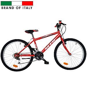 "Kalnu velosipēds Esperia 8450 MTB24 K 18V REVO SHIFT RED (Rata izmērs: 24"" Rāmja izmērs: 16"")"