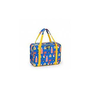 Termiskā soma Evo Small asorti, zaļa/sarkana/zila ar dekoru