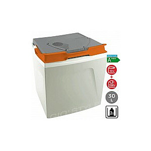 Aukstuma kaste elektriskā Shiver Dark Grey 30 / 12-230V gaiši pelēka (ar pārtikas trauciņu)
