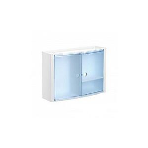 Horizontālais vannas istabas skapītis zils