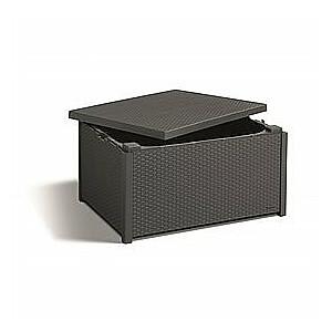Dārza galdiņš/uzglabāšanas kaste Arica pelēks