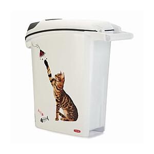 Trauks barības uzglabāšanai Love Pets Dogs 10kg 23L 23,2x49,7x50,3cm kaķis