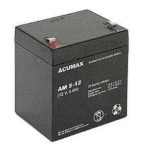 BATTERY 12V 5AH VRLA/AM5-12T2 ACUMAX EMU