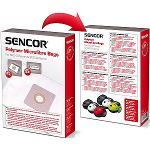 SENCOR mikrošķiedras maisiņi SVC 45RD/WH - 5 gb.