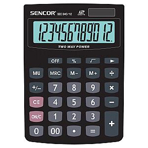 SENCOR Galda kalkulators. 12 ciparu displejs