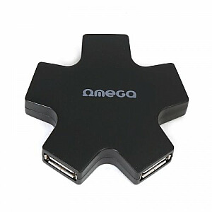 Omega OUH24SB USB Hubs 1 x 5 Sadalītājs Melns (Zvaigzne)
