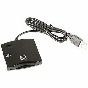 Fusion ID Karšu Lasītājs PC / SC / CCID ISO7816 USB (+SIM) Melns