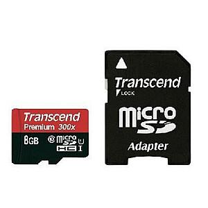 MEMORY MICRO SDHC 8GB W/ADAPT/UHS-I C10 TS8GUSDU1 TRANSCEND