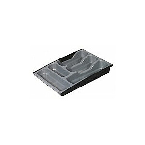 Galda piederumu trauks izvelkams 30x42x6,4cm melns/sudraba