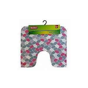 "WC paklājs ""Red mosaic"" 55x50cm, PVC"