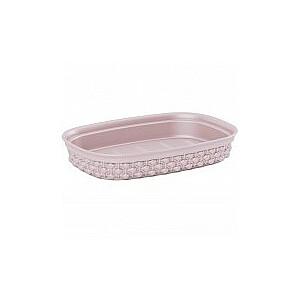 Ziepju trauks Filo 15x10x2,5cm rozā