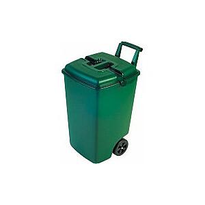 Atkritumu tvertne uz riteņiem 90L zaļa