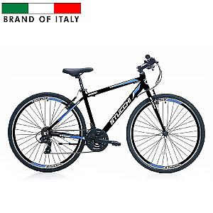 "Stucchi MTB Man 1WX300 velosipēds – melns ar zilu (Ramja izmērs 46 cm, Rata izmērs: 28"")"