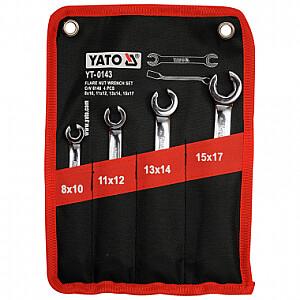 Atslēgu komplekts bremžu caurulēm (4 gab.) YT-0143 YATO