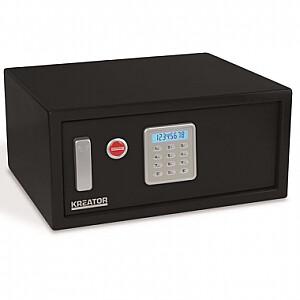 Elektroniskais seifs ar atslēgu 200x430x350mm Kreator