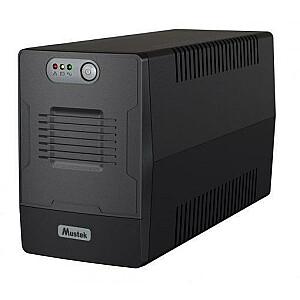 UPS MUSTEK 480 Watts 850 VA Wave form type Simulated sinewave LineInteractive Desktop/pedestal 800-LED-LIG-T10