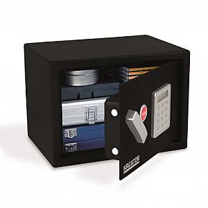 Elektroniskais seifs ar atslēgu 250x350x250mm Kreator