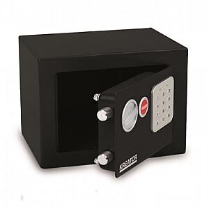 Elektroniskais seifs ar atslēgu 170x230x170mm Kreator
