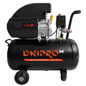 Kompresors 1200W 48L, ar eļļu AC-48 DNIPRO-M