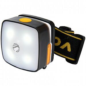 Galvas lukturis CREE + SMD LED, 3 režīmi, lādējams VOREL