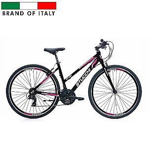 """Stucchi MTB Lady 1WX400 velosipēds – melns ar rozā (Ramja izmērs 46 cm, Rata izmērs: 28"""")"""