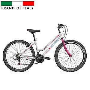 "Stucchi MTB LADY 1WX100B velosipēds – balts ar rozā (Ramja izmērs 38 cm, Rata izmērs: 26"")"