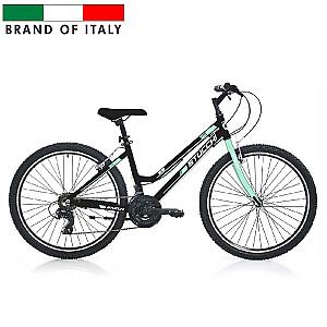 """Stucchi MTB LADY 1WX100 velosipēds – melns ar zaļu (Ramja izmērs 40 cm, Rata izmērs: 26"""")"""