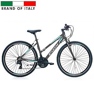 """Stucchi MTB Lady 1WX400G velosipēds – pelēks ar zaļu (Ramja izmērs 46 cm, Rata izmērs: 28"""")"""