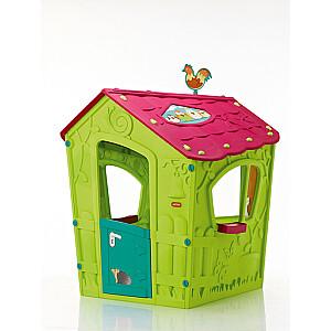 Bērnu rotaļu māja Magic Playhouse zaļa/violeta