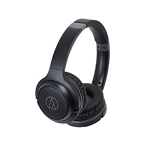 Audio Technica Headphones with Built-in Mic and Controls ATH-S200BTBK Headband/On-Ear, Bluetooth, Black, No, Yes