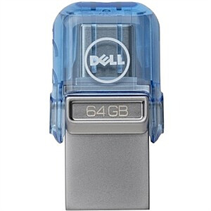Dell USB A/C Combo Flash Drive 128 GB, USB Type-A/USB Type-C, Blue