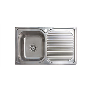 CATA Sink CD-1 Top mount, Square, Number of bowls 1, Stainless steel, Stainless steel