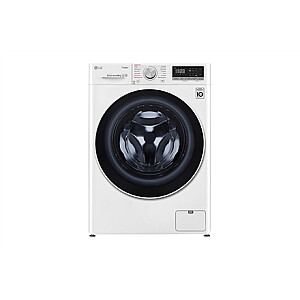 LG Washing machine F4WN408S0 Energy efficiency class D, Front loading, Washing capacity 8 kg, 1400 RPM, Depth 56 cm, Width 60 cm, Display, LED touch screen, Steam function, Direct drive, Wi-Fi, White