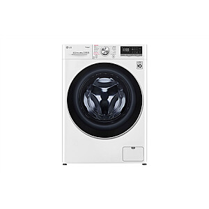LG Washing machine F4WN608S1 Energy efficiency class D, Front loading, Washing capacity 8 kg, 1400 RPM, Depth 56 cm, Width 60 cm, Display, LED touch screen, Steam function, Direct drive, Wi-Fi, White