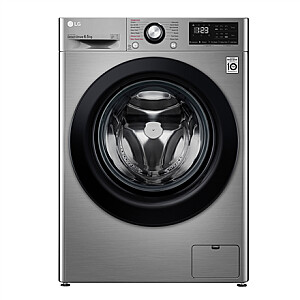 LG Washing machine F2WN2S6S6TE Energy efficiency class E, Front loading, Washing capacity 6.5 kg, 1200 RPM, Depth 46 cm, Width 60 cm, Display, LED, Steam function, Silver