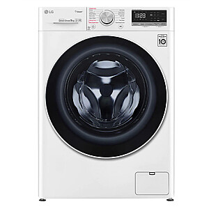 LG Washing machine with steam function F4WN409S0 Energy efficiency class D, Front loading, Washing capacity 9 kg, 1400 RPM, Depth 56.5 cm, Width 60 cm, Display, LED, Steam function, Direct drive, Wi-Fi, White