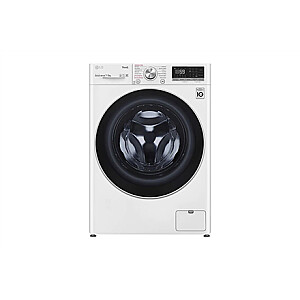 LG Washing Machine With Dryer F2DV5S7S1E Energy efficiency class D, Front loading, Washing capacity 7 kg, 1200 RPM, Depth 46 cm, Width 60 cm, Display, LED, Drying system, Drying capacity 5 kg, Steam function, Direct drive, Wi-Fi, White