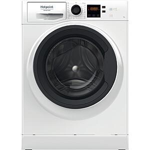 Hotpoint Washing machine NS722U WK EU N Energy efficiency class E, Front loading, Washing capacity 7 kg, 1200  RPM, Depth 52.2 cm, Width 59.5 cm, Display, Small Digit, Steam function, White